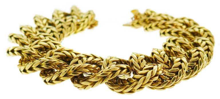 Van Cleef & Arpels Yellow Gold Link Chain Bracelet VCA Paris, 1970s In Good Condition In Beverly Hills, CA