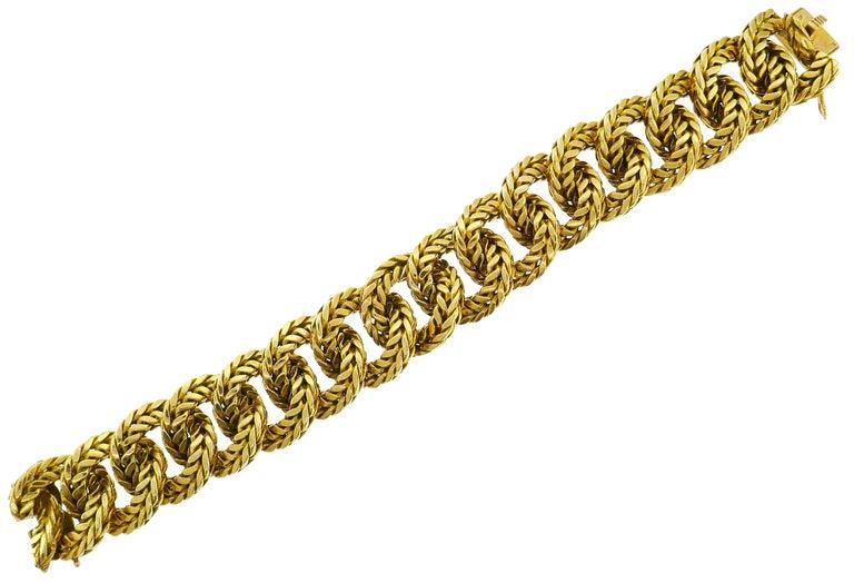 Women's or Men's Van Cleef & Arpels Yellow Gold Link Chain Bracelet VCA Paris, 1970s