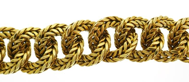Van Cleef & Arpels Yellow Gold Link Chain Bracelet VCA Paris, 1970s 1