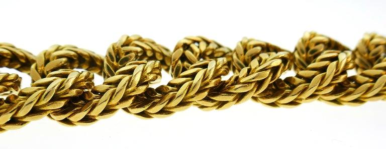 Van Cleef & Arpels Yellow Gold Link Chain Bracelet VCA Paris, 1970s 2