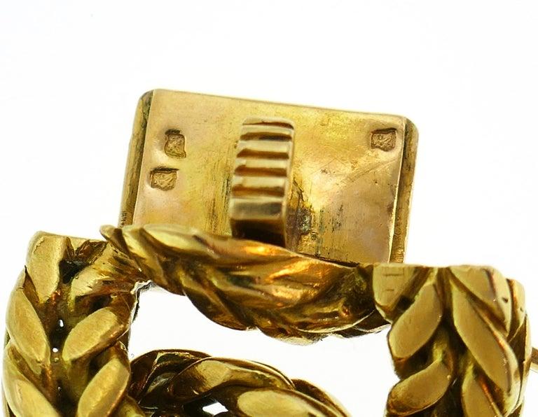 Van Cleef & Arpels Yellow Gold Link Chain Bracelet VCA Paris, 1970s 3
