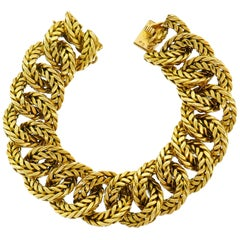 Van Cleef & Arpels Yellow Gold Link Chain Bracelet VCA Paris, 1970s