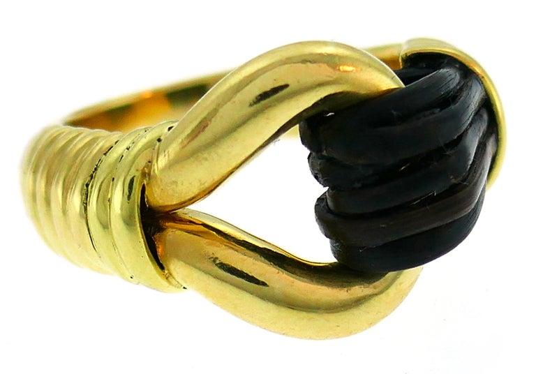 Women's or Men's Van Cleef & Arpels Yellow Gold Ring, 1970s