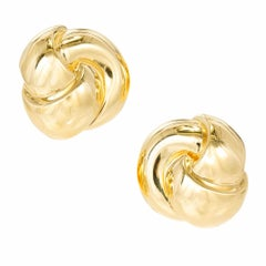 Van Cleef & Arpels Yellow Gold Swirl Clip Post Earrings