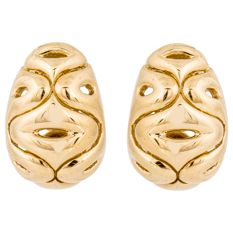 Van Cleef & Arpels Swirl Earrings in 18K Gold