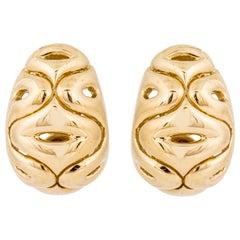 Van Cleef & Arpels Yellow Gold Swirl Earrings
