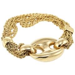 Van Cleef & Arpels Yellow Gold Very Rare Vintage Multi Rope Chain Bracelet