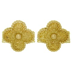 Van Cleef & Arpels Yellow Gold Vintage Alhambra Cufflinks