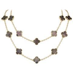 Van Cleef & Arpels Yellow Gold Vintage Alhambra Necklace