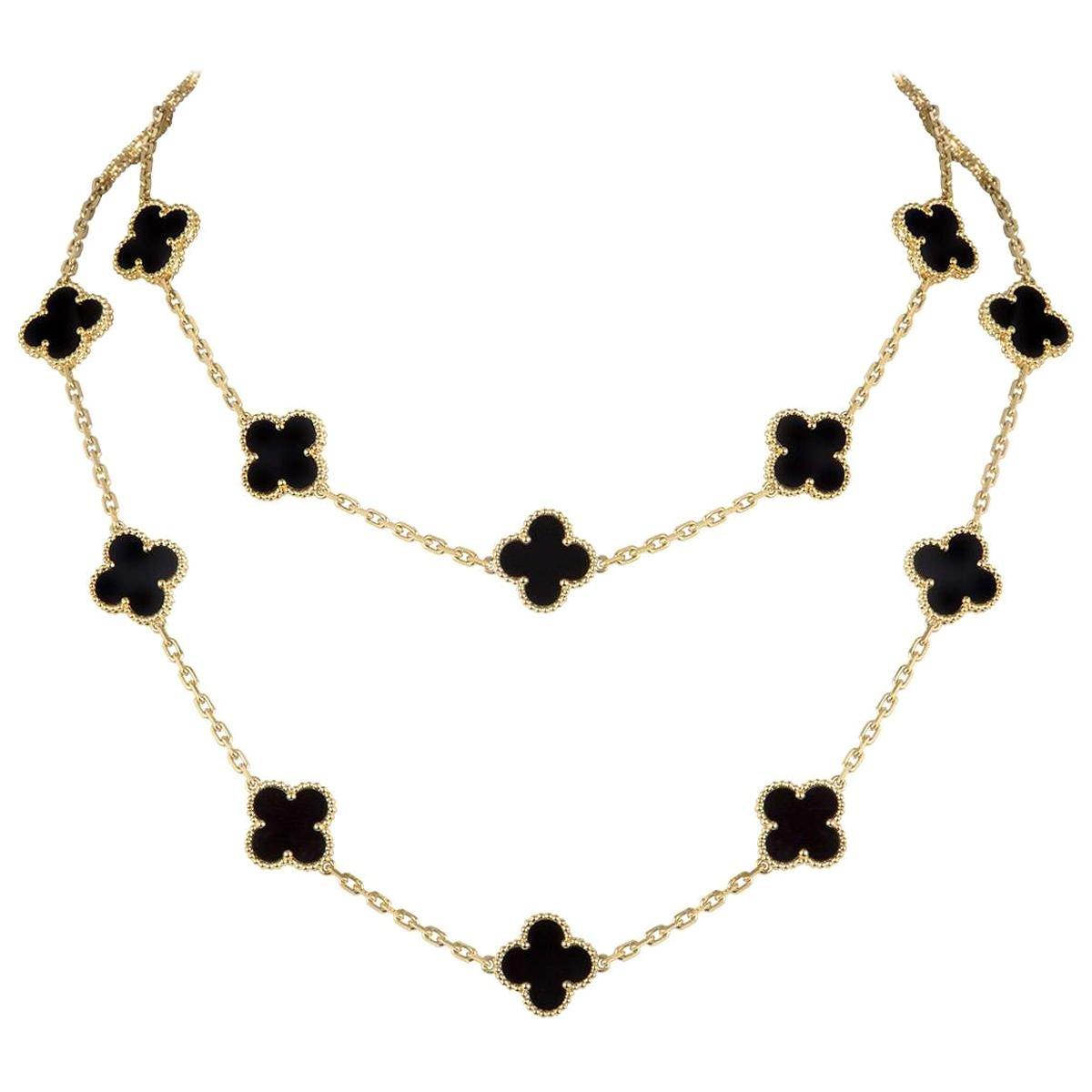 Van Cleef & Arpels Yellow Gold Vintage Alhambra Necklace VCARA43100
