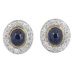 Van Cleef & Arpels Sapphire and Diamond Clip Earrings