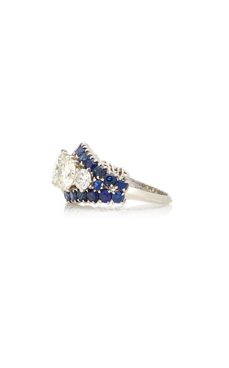 Women's or Men's Van Cleef & Arpels Diamond Sapphire Ring For Sale
