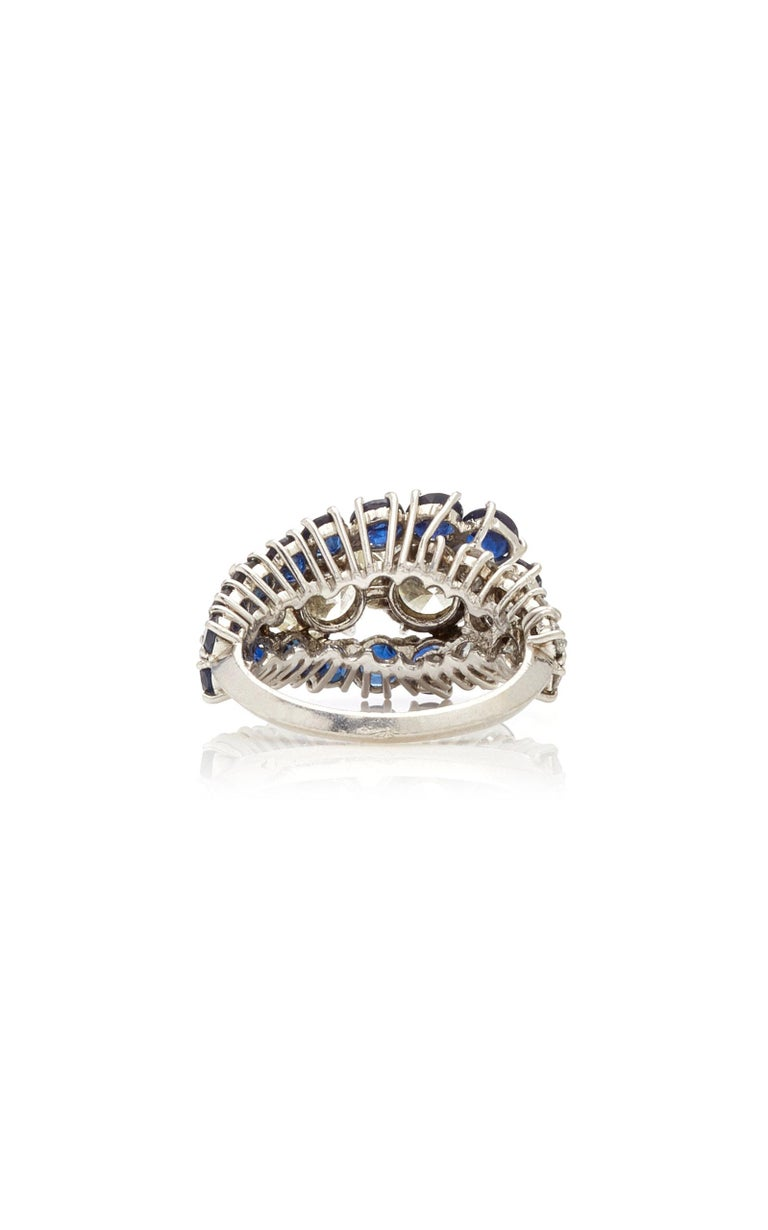 Van Cleef & Arpels Diamond Sapphire Ring For Sale 1