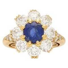 Van Cleef Rosetta Sapphire Diamond Ring