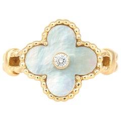 Van Clef & Arpels Mother of Pearl Ring