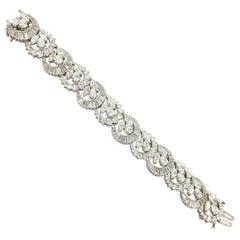 Van Clief Victorian Style Platinum Diamond Bracelet Approximately 25.00 Carat