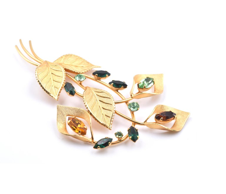 Designer: Van Dell Material: 12k gold filled Dimensions: pin is 3 ½-iches long and it is 2 ¼-inches wide Weight: 11.82 grams