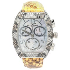 Van Der Bauwede Magnum XS, Chronograph Snake White, Black, Brown Diamonds
