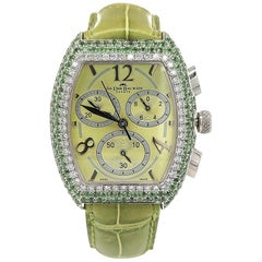 Van Der Bauwede Magnum XS silver, Chronograph, Quartz with Diamonds & Tsavorite