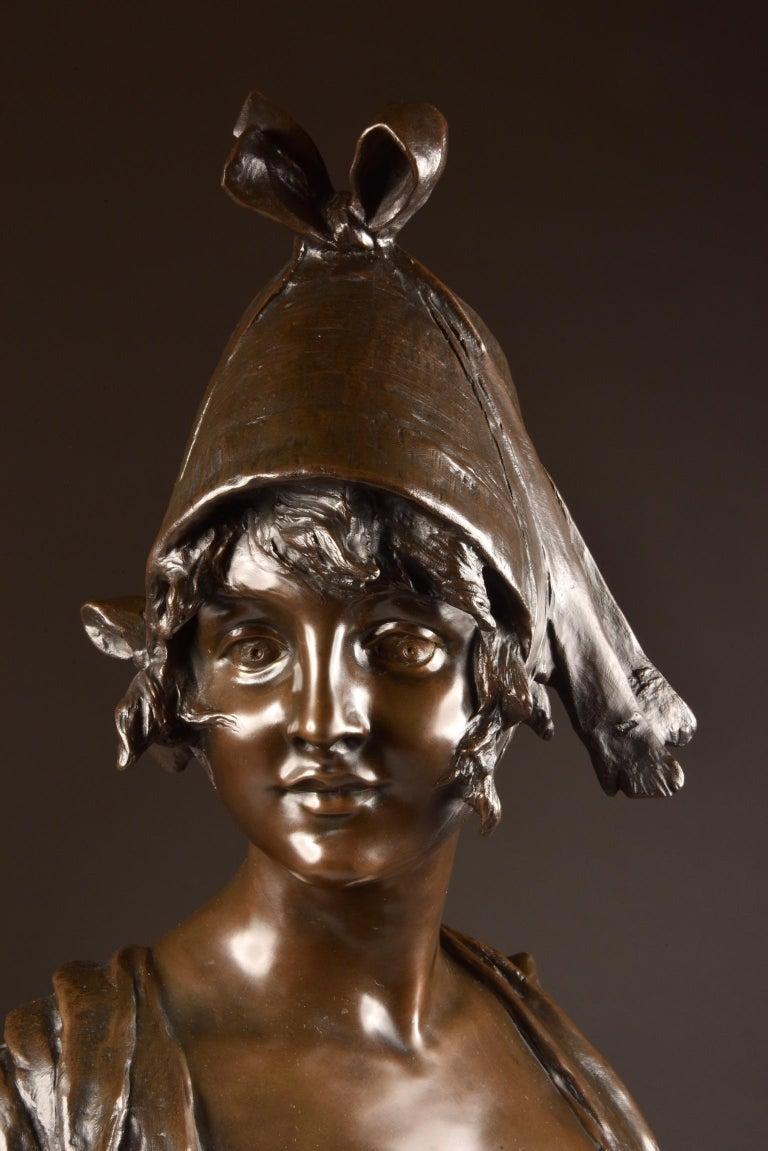 Van der Straeten, Large 3-Part Set of Bronze Bust with 2 Cassoltes In Good Condition For Sale In Ulestraten, Limburg