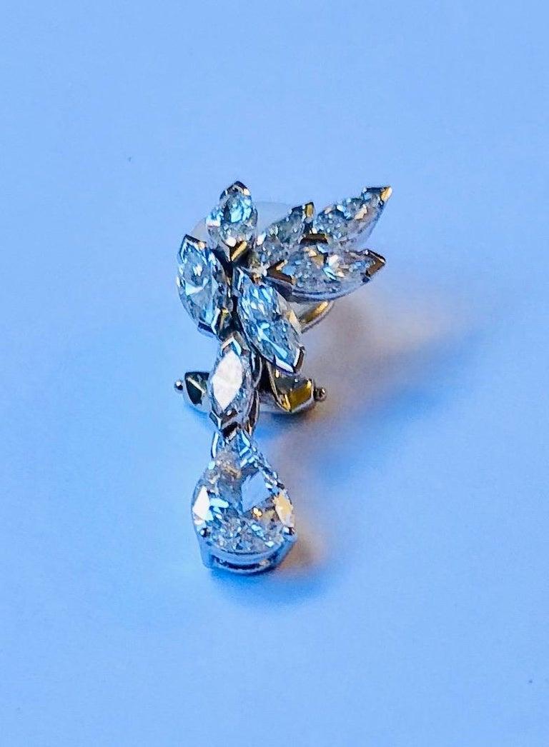 Pear Cut Van der Veken Marquise and Pear-Cut Diamond Earrings For Sale