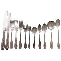 Van Dyke by International Sterling Silver Dinner Flatware Set of 12, 157 Pieces