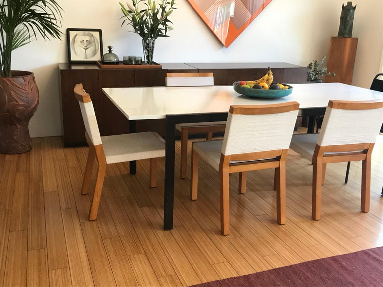Van Keppel Green Wood and Cord Chairs, Beverly Hills For Sale 3