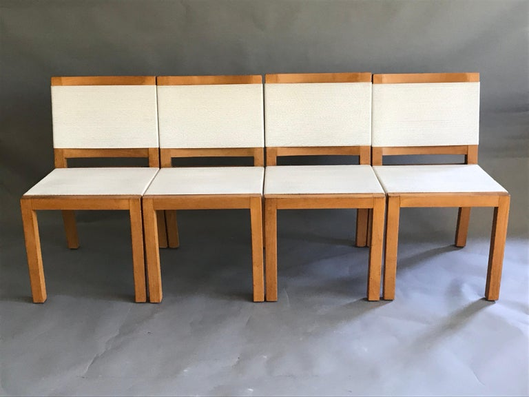 A nice set of early California modern architectural designs. They were ahead of their time 60 years ago, and are still current today. These were designed and sold out of the Van Keppel-Green show-room in Beverly Hills. They are made of birch wood,