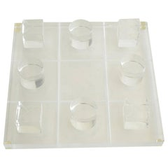 Van Teal Lucite Tic Tac Toe Game Set Vintage