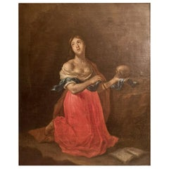 "Van Yperen, Jan Thomas, ""The Penitent Magdalen"" Signed"