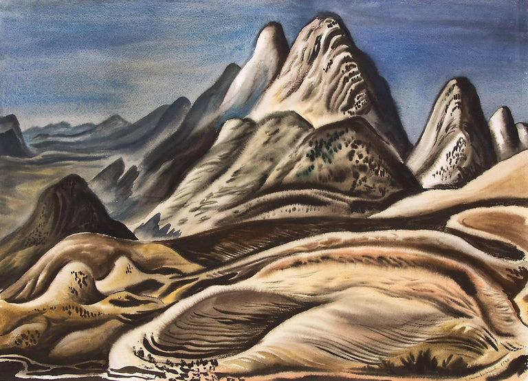 Colorado Landscape (View from Red Rocks looking south toward Soda Lakes) - Painting by Vance Kirkland