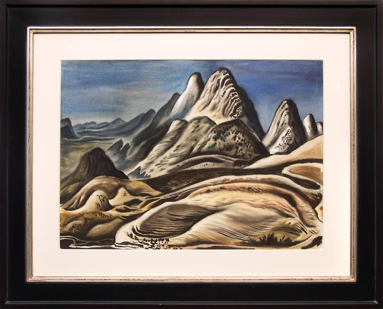 Vance Kirkland Landscape Art - Colorado Landscape (View from Red Rocks looking south toward Soda Lakes)