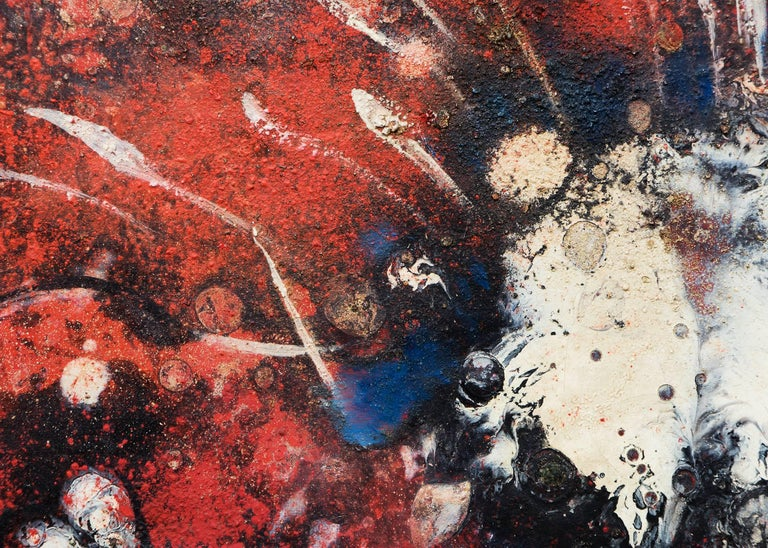 Fourth of July - Brown Abstract Painting by Vance Kirkland