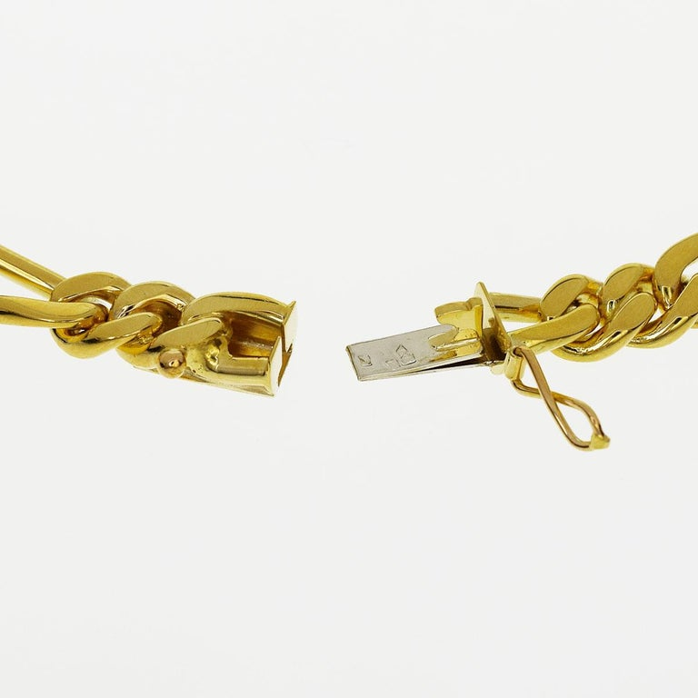 Van Cleef & Arpels 18 Karat Yellow Gold Long Chain Gold Necklace 129.7g In Good Condition For Sale In Tokyo, JP