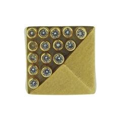 Vancox Modernist Diamond Gold Geometric Ring
