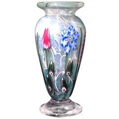 Vandermark Art Glass Vase Signed by Vandermark, Doug Merritt and Stephen Smarr