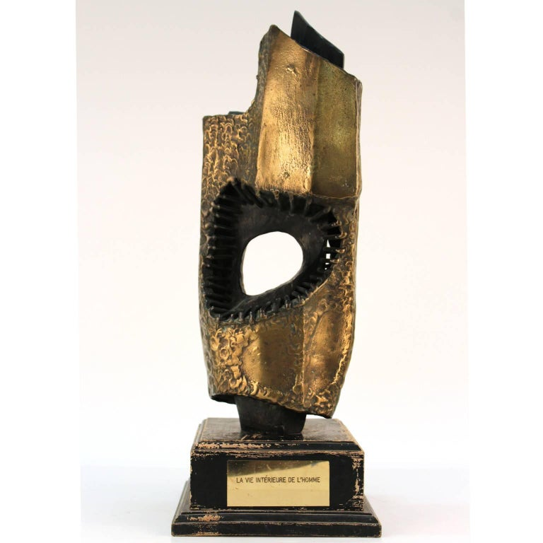 Vandevoorde Brutalist Abstract Welded Bronze Sculpture For Sale 1