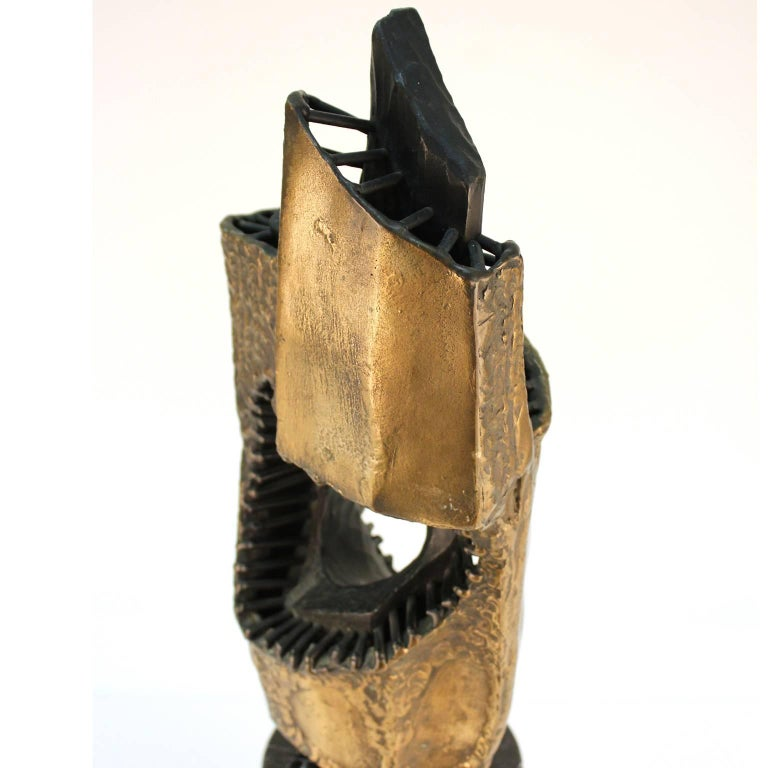 Vandevoorde Brutalist Abstract Welded Bronze Sculpture For Sale 3