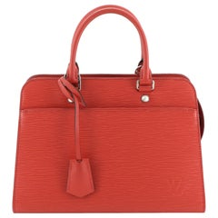 Vaneau Handbag Epi Leather MM