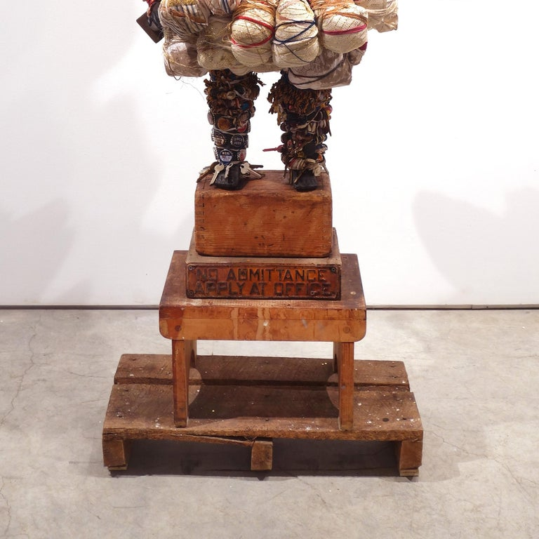 no admittance apply at office - Assemblage Sculpture by Vanessa German