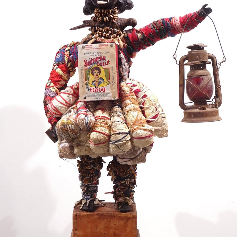 no admittance apply at office - Brown Figurative Sculpture by Vanessa German