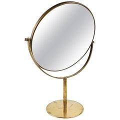 Vanity Brass Mirror Midcentury, Sweden