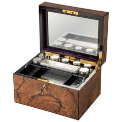 Vanity Case with Crystal Boxes and Sterling Silver Lids by George Betjemann 1870