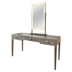 Vanity Desk with Illuminated Mirror
