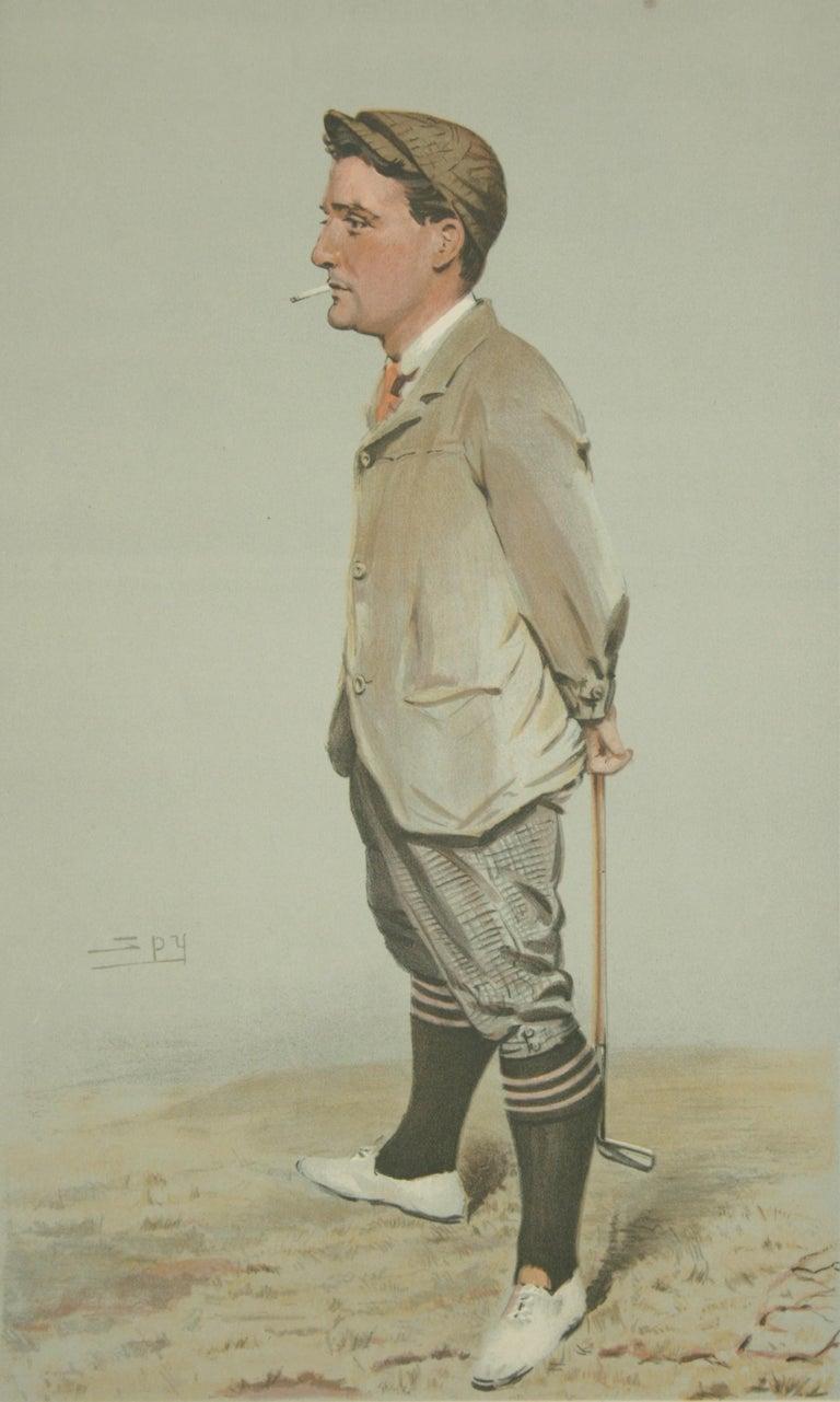 English Vanity Fair Golf Print 'Horace Harold Hilton, Hoylake' For Sale