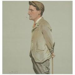 Vanity Fair Golf Print 'Horace Harold Hilton, Hoylake'
