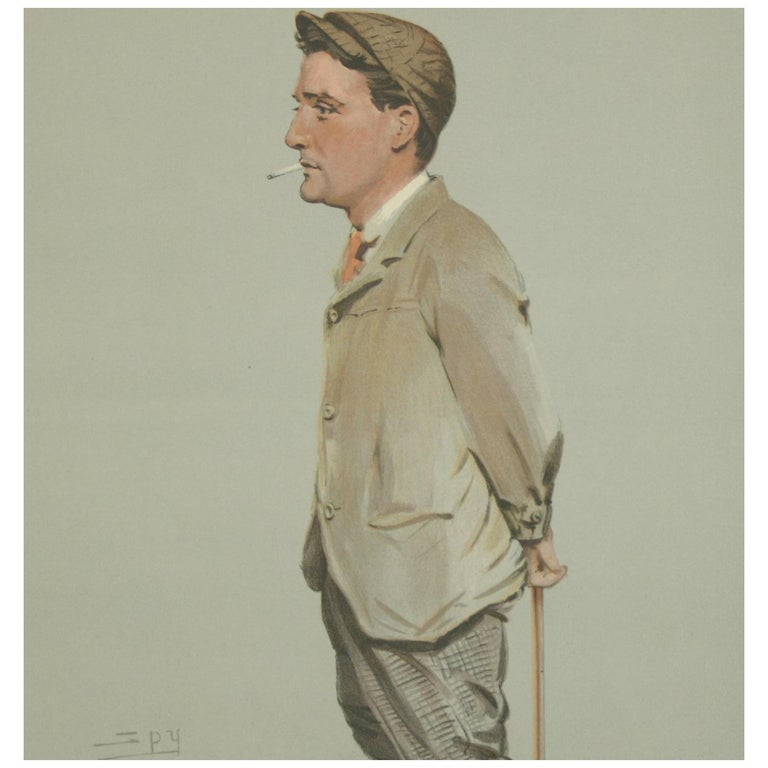 Vanity Fair Golf Print 'Horace Harold Hilton, Hoylake' For Sale