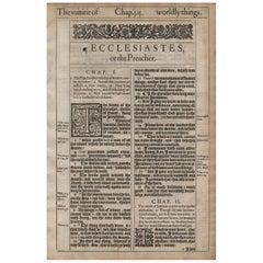 """""""Vanity of Vanities"""", 1611 King James Bible, Ecclesiastes 1"""