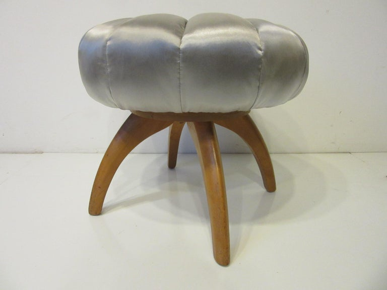Mid-Century Modern Vanity Pouffe / Stool by Heywood Wakefield for the Kohinoor Collection