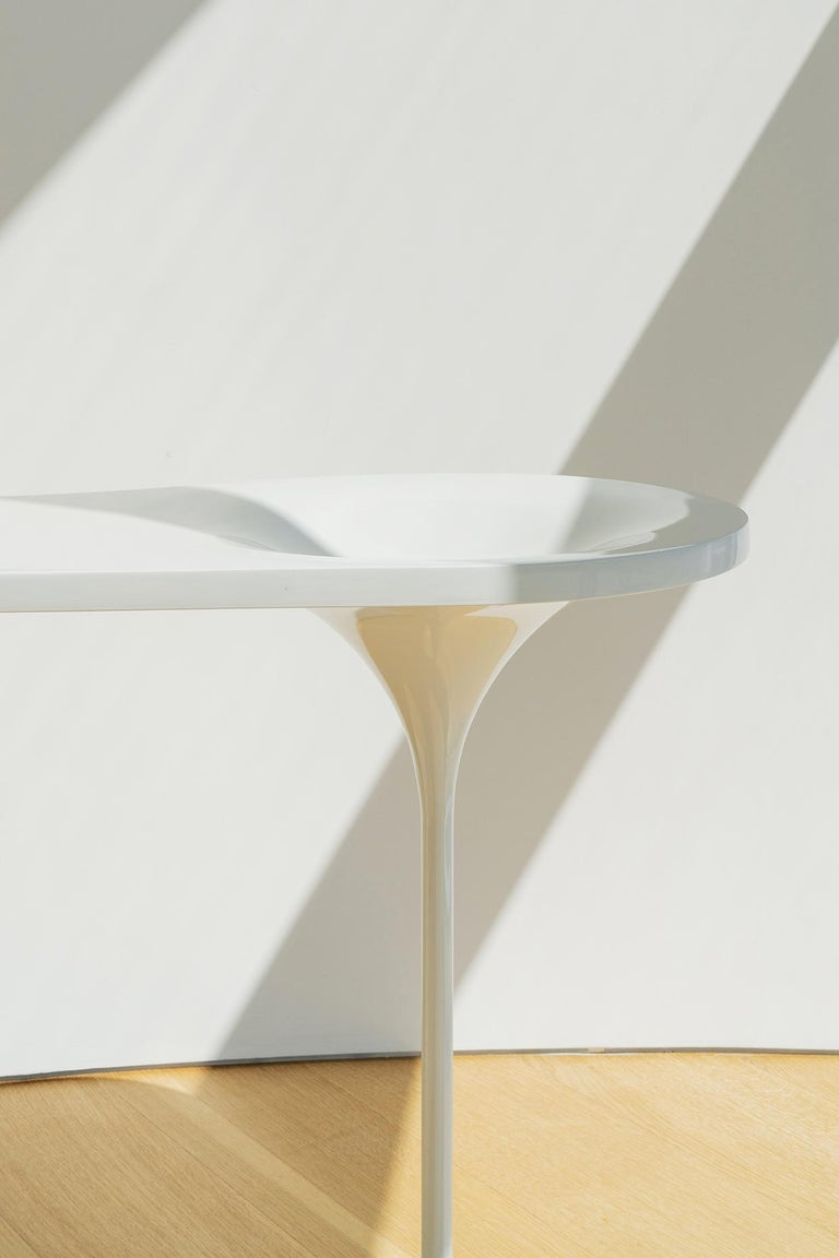 Vanity Table in powder coated wood with integrated bowl, desk or entry table In New Condition For Sale In Brooklyn, NY